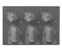 Molde Gelo STAR WARS Yoda R2D2