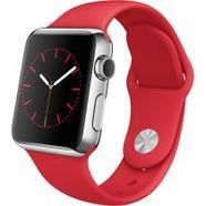 Apple Watch 38 Aço Inoxidável | Bracelete Sport Vermelha
