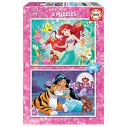 Puzzles Ariel + Jasmine 2×48 peças Educa