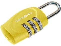 Cadeado com código SAMSONITE em Amarelo