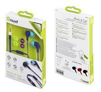 Auriculares MUVIT Micro (Controlo de Volume – Roxo)
