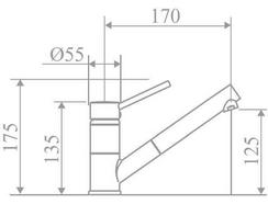 Torneira RODI Line MN 0900 (Cromado – 17.5 x 5.5 x 17 cm)