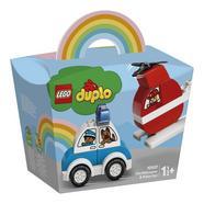 LEGO Duplo: Helicóptero de Bombeiro e Carro de Polícia
