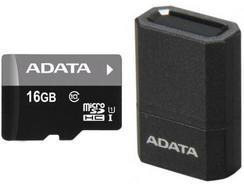 Cartão de Memória MicroSD ADATA microReader Ver.3 16GB