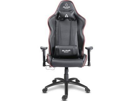 Cadeira Gaming ALPHA Pollux RGB (Até 125 kg – Elevador classe 4 – Preto)