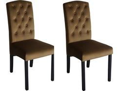 Conjunto 2 Cadeiras CSD Finesse Veludo Bege