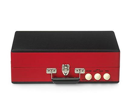 Gira-Discos RICATECH Vintage RTT98 Vermelho (Velocidade: 33 – 45 – 78 rpm)