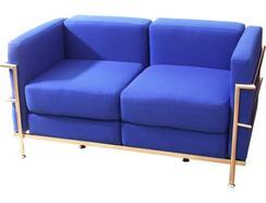 Sofá PYC Tarazona Tecido Azul