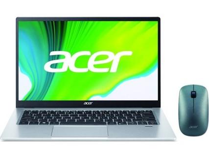 "Pack Portátil ACER Swift 1 SF114-34-C4ZH (14"" – Intel Celeron N4500 – RAM: 4 GB – 64 GB eMMC – Intel UHD Graphics) + Rato Slim"