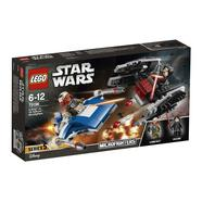 A-Wing contra TIE Silencer Microfighters Lego Star Wars