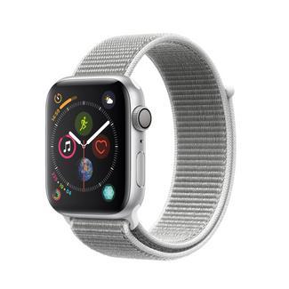Apple Watch Series 4 40mm – Alumínio Prateado | Bracelete Loop Desportiva – Branco