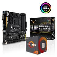 Bundle MB Asus TUF B450M-Plus Gaming + CPU AMD Ryzen 5 2600