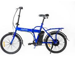 Bicicleta E-Bike SKATEFLASH Dobrável Azul