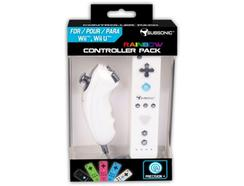 Pack Comandos SUBSONIC Wii / Wii U Rainbow Branco