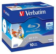 Verbatim BD-R DL 50GB 6x Wide Printable 10 Pack Jewel Case No ID Brand BD-R 50GB 10peça(s)