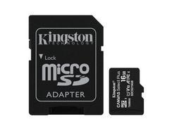 Cartão de Memória KINGSTON 16 GB Micro SD Select Plus 100R C10 + Adaptador
