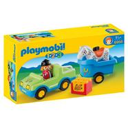 Playmobil 1 2 3: Carro com Reboque