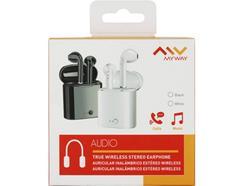 Auriculares Bluetooth True Wireless MYWAY (In Ear – Microfone – Preto)