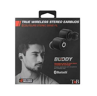 Auriculares Bluetooth True Wireless TNB Buddy (In Ear – Microfone – Preto)