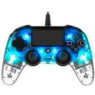 Comando Wired Compact Controller Iluminado Azul Transparente – PS4