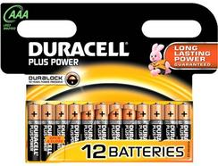 Pilhas DURACELL Plus AAA (12 unid)