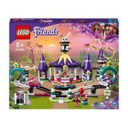Mundo da Magia: Rollercoaster parque de diversões para crianças com mais de 8 anos com mini-bolls LEGO Friends