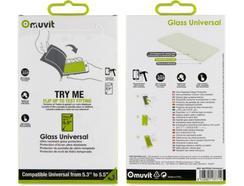 "Película Vidro Temperado MUVIT Glass Universal até 5.5"""