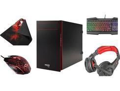 Pack Gaming TSUNAMI – Desktop + Auscultadores + Teclado + Rato + Tapete