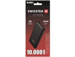 Powerbank SWISSTEN Workx (10000 mAh – 2 USB – 1 MicroUSB – 1 USB-C – Preto)