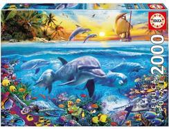 Puzzle 2D EDUCA Família de Golfinhos