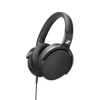 Auscultadores com fio SENNHEISER HD 400S (Over Ear – Microfone – Preto)