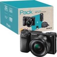 Pack Fnac Sony Alpha α6000 + SEL1650 16-50mm f/3.5-5.6 PZ OSS + SEL55210 55-210mm f/4.5-6.3 OSS – Preto