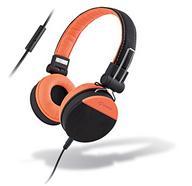 Auscultadores Com fio MELICONI Speak Style (On Ear – Microfone – Laranja)