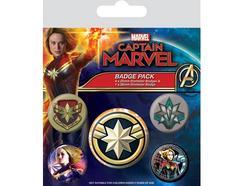 Conjunto de Crachás GRUPO ERIK Captain Marvel