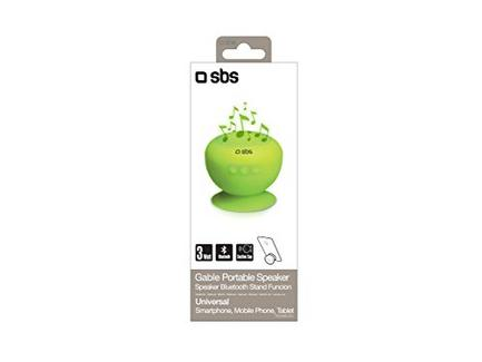 Coluna SBS Bluetooth Ventosa Verde