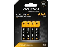 Pilhas Não Recarregáveis MITSAI LR3 (AAA – 8 Unidades)