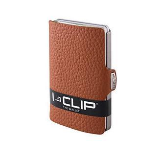 Porta cartões I-CLIP 12 cartões Camel (Material: Pele)