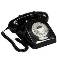 Telefone GPO RETRO 746 Com Fio Preto