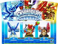 Skylanders: Spyro's Adventure Pack 3 – (Whirlwind + Double Trouble + Drill Sergeant)