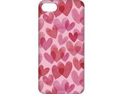 Capa iPhone 6, 6s, 7, 8 FUNNY CASES Corações Vermelho