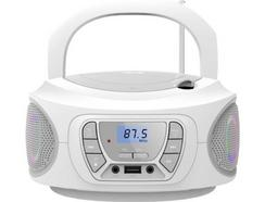 Rádio Boombox FONESTAR Boom One (Branco – Digital – Bluetooth)