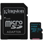 Kingston Canvas Go 90R/45W U3 UHS-1 microSDXC V30 64GB CL10 + Adaptador SD