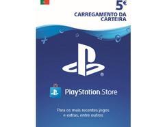 Cartão de Carregamento PlayStation Store 5 Euros