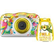 Kit Máquina Fotográfica Compacta NIKON Coolpix W150 + Mochila (Amarelo – 13.2 MP – ISO: 125 a 1600 – Zoom Ótico: 3x)