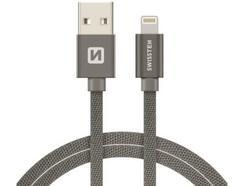 Cabo SWISSTEN Textile (USB – Lightning – 1.2 m – Cinza)