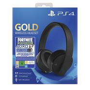Auscultadores PS4 Gold Wireless Headset Fortnite Voucher