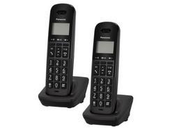 Telefone Fixo PANASONIC Dect Duo Básico Preto