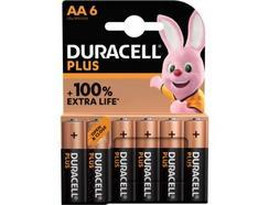 Pilhas Não Recarregáveis DURACELL PLUS AA K6 (6 unidades)