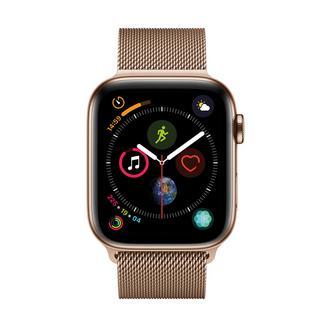 Apple Watch Series 4 44mm – Alumínio Dourado | Bracelete Loop Desportiva – Rosa Areia