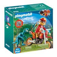 Playmobil The Explorers: Moto com Velociraptor